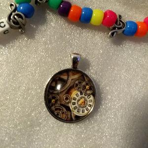 CLOCKS - Pendant Necklace - Steampunk Fashion